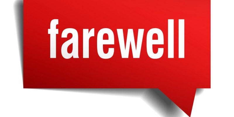 Farewell speech